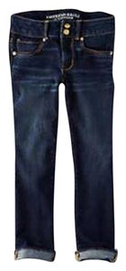 American Eagle Outfitters Capri/Cropped Denim-Dark Rinse