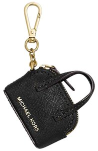 Michael Kors Michael Kors Handbag Purse Charm NWT Saffiano Leather Black Key FOB