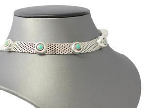 Other Sterling Silver Choker with Turquoise Stones