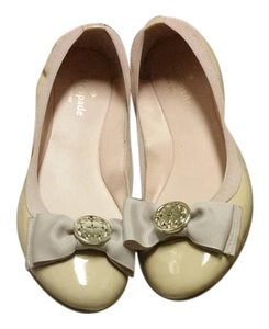 Kate Spade Leather Nude Patent Flats