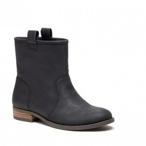 Sole Society Bootie Casual Winter Black Leather Boots