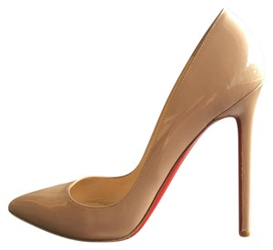 Christian Louboutin Pigalle 120 Pigalle Nude Patent Calf Pumps