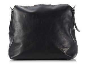Prada Smooth Slouchy Calfskin Shoulder Bag