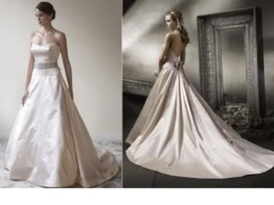 Lazaro Lazaro Strapless Wedding Gown Wedding Dress