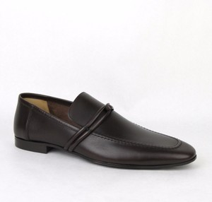 Gucci Men's Leather Loafer Shoes W/strap Detail G 12.5 D/us 13.5 121471 2140