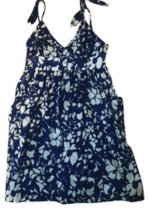 American Eagle Outfitters short dress Blue and cream on Tradesy