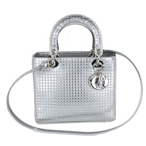 Dior Lady Christian Tote in silver