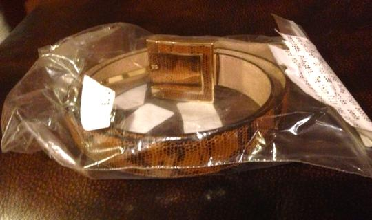 Vince Camuto Vince Camuto Brown Embossed Leather Belt