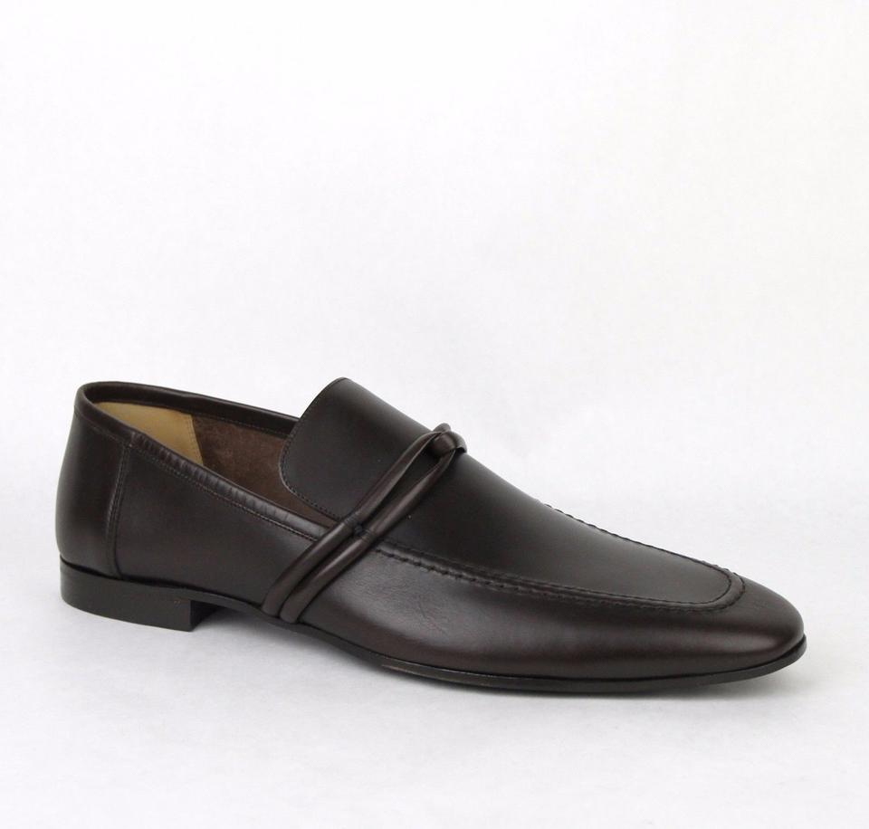 cc76e385491 Gucci Brown Men s Leather Loafer W Strap Detail G 14 D  Us 15 121471 ...