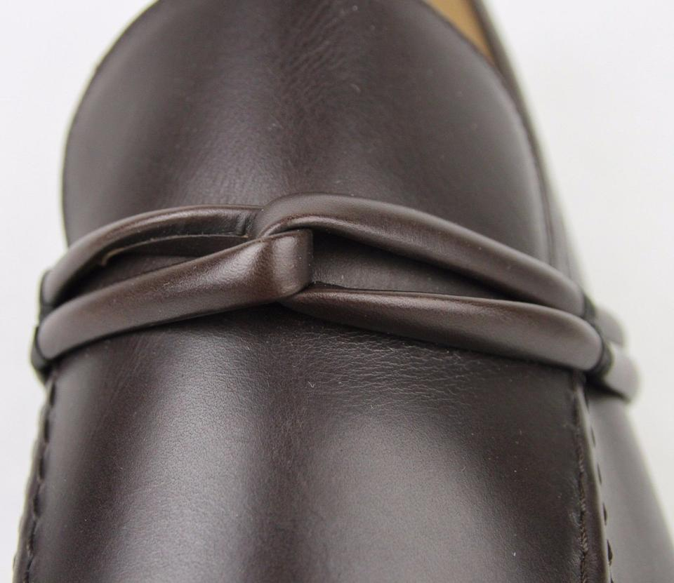 20a1011119a Gucci Brown Men s Leather Loafer W Strap Detail G 14 D  Us 15 121471.  12345678