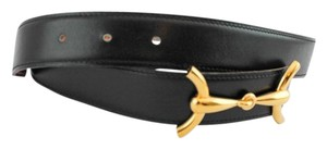 Hermès #9131 Discontinued 30Mm Gold Horsebit H Belt Reversible