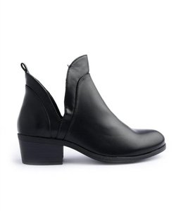 Wild Diva Faux Leather Ankle Black Boots