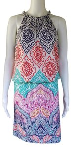 Maggy London short dress Multi-color Blouson Sleeveless Print Slinky Pull-on on Tradesy