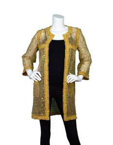 Chanel Sheer Tweed Sequin Jacket