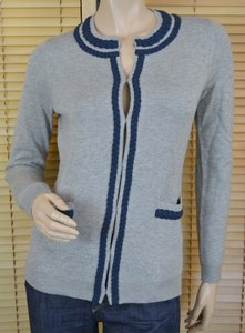 Vineyard Vines Preppy Braided Wool Blend Cardigan