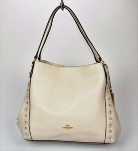 Coach Flowers Studded Hang Tag Shoulder Bag