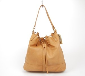 Lucky Brand Leather Rustic Drawstring Hobo Bag
