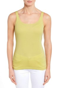 Eileen Fisher Baby Rib Great As Base Layer Top Lemon Ice