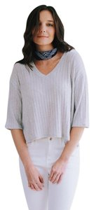 Cherish Ribbed Knit Relaxed Fit 3/4 Sleeve Sweater