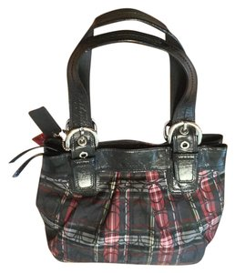 Coach Vintage Patent Leather Tote in Tartan Glam Glitter (red, yellow, gray, black)