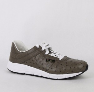 3ff4632310b Gucci Brown New Men s Ostrich Lace-up Sneakers 8.5 G  Us 9 357174 2818