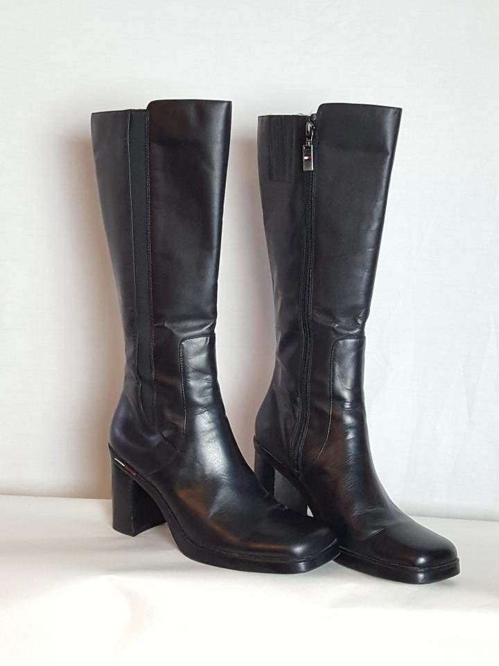 Tommy Black Hilfiger Black Tommy Zippered Knee High Boots/Booties 0eb890