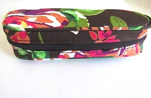 Vera Bradley NEW VERA BRADLEY ENGLISH ROSE ZIP GLASSES CASE - HTF
