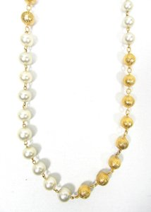 Chanel Vintage '80s Gold Plated Beads and Pearl Necklace MINT CONDITION