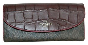 Coach Coach Pop Slim Wallet Signature Exotic Mix Media 54004 NWT