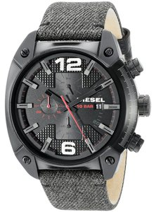 Diesel Diesel Men's DZ4373 'Overflow' Chronograph Green Leather Watch
