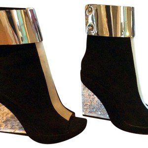 Jeffrey Campbell Black, Silver and Clear Boots