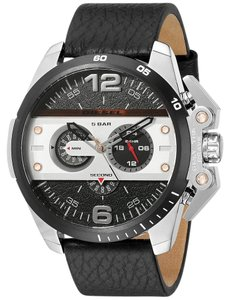 Diesel Diesel Men's DZ4361 'Ironside' Chronograph Black Leather Watch