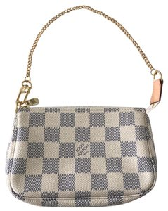 Louis Vuitton Zipper Closure Textile Lining Wristlet