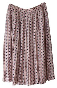 Ace Delivery Pleated Midi Geometric Skirt Peach, white, grey, black, hot pink