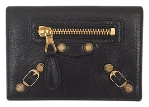 Balenciaga Belenciaga Gold Stud Card Holder