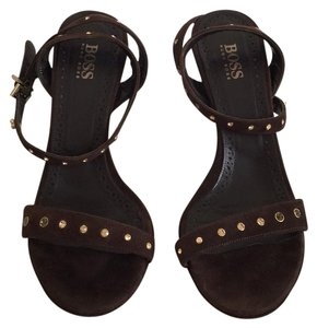 Hugo Boss Brown Sandals
