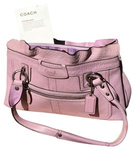 Coach Tote in Lavender, light purple.
