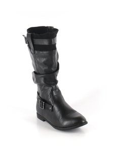 Chase & Chloe black leather Boots
