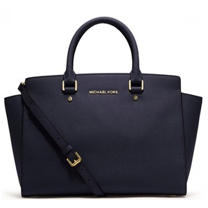 MICHAEL Michael Kors Satchel in Navy