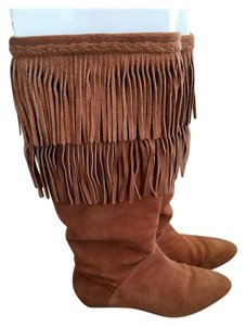 Gianni Bini Suede Boot Walnut Boots