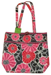 Vera Bradley Tote in Grey Pink Red Black White