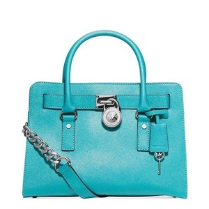 MICHAEL Michael Kors Satchel in Aquamarine