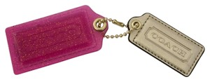 Coach COACH POPPY GLITTER ACRYLIC AND LEATHER KEY CHAIN