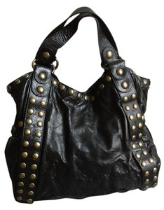 Kooba Studded Leather Sturdy Shoulder Bag