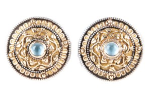 Konstantino Konstantino Gold And Silver Byzantine Style Earrings