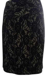 The Limited Skirt Black Lace over Silver