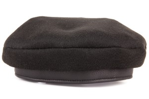 Hermès Hermes Black Cashmere Beret With Black Leather Band