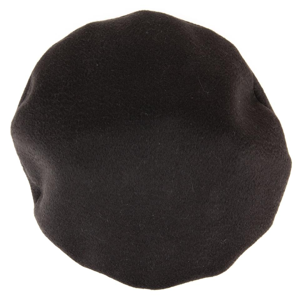 8751c329 Hermès Black Cashmere Beret with Leather Band Hat - Tradesy