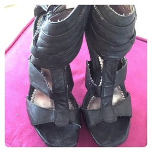Bakers Leather Black Sandals