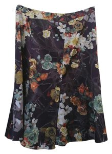 Just Cavalli Roberto Silk Printed Skirt Multi